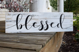 FREE SHIPPING!!!  Blessed rustic pallet sign  I Blessed  I  Blessed sign I  Fall  I  Fall sign