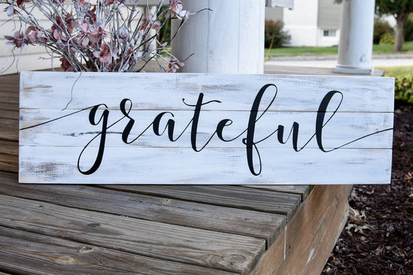 FREE SHIPPING!!!   Grateful pallet sign  I  Grateful  I Grateful sign  I Fall  I Fall sign