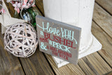 FREE U.S SHIPPING!!!  I love you a bushel and a peck  I  Nursery sign