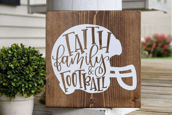 Faith Family Football wood sign  I  Football  I  Fall sign  I  Fall decor