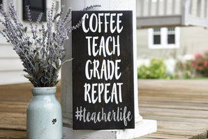 FREE SHIPPING!!!   Teacherlife wood sign  I  Teacher gift idea  I  Classroom decor  I  Teacher gift