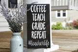 Teacherlife wood sign  I  Teacher gift idea  I  Classroom decor