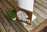 FREE SHIPPING!!!  Faith Family Football wood sign  I  Football  I  Fall sign  I  Fall decor  I  Helmet