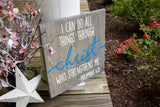 FREE U.S. SHIPPING!!!  I can do all things through Christ wood sign  I  Baptism gift
