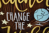 FREE SHIPPING!!!   Teachers change the world wood sign.  Teachers, Teacher gift, Back to school, graduation.
