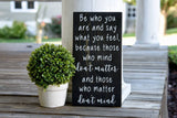 FREE U.S. SHIPPING!!!   Be who you are wood sign.  Nursery, Classroom