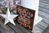 FREE U.S. SHIPPING!!!   Mother's are like buttons wood sign