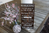 FREE SHIPPING!!!  No soliciting wood sign.  No soliciting, Front door sign, door decor, door sign.