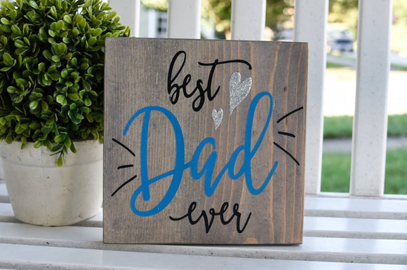FREE SHIPPING!!!   Best dad ever wood sign.  Father's day gift, Father's day, Gift for dad, Dad gift idea, Best dad ever.