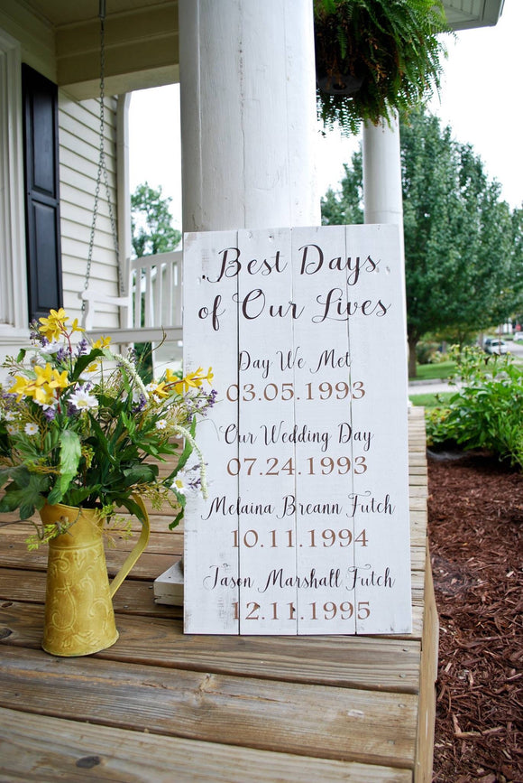 Best Days of Our life pallet sign  I  Anniversary  I  mothers day