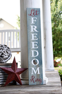 FREE SHIPPING!!!    Let Freedom ring wood sign  I  Freedom sign  I  Porch sign  I  Patriotic decor  I  Forth of July  I  porch sign  I  door decor  I  wood sign