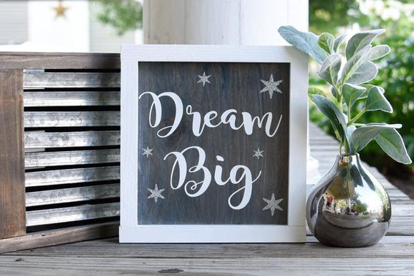 FREE U.S. SHIPPING!!!   Dream big wood sign I  Dream big I  Nursery sign