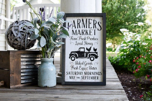 FREE SHIPPING!!!   Farmers Market wood sign I  Farmers Market I  Kitchen sign  I   Kitchen decor I  Kitchens I  Fresh produce I  Farmhouse kitchen