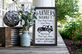 FREE U.S. SHIPPING!!!   Farmers Market wood sign I  Farmers Market