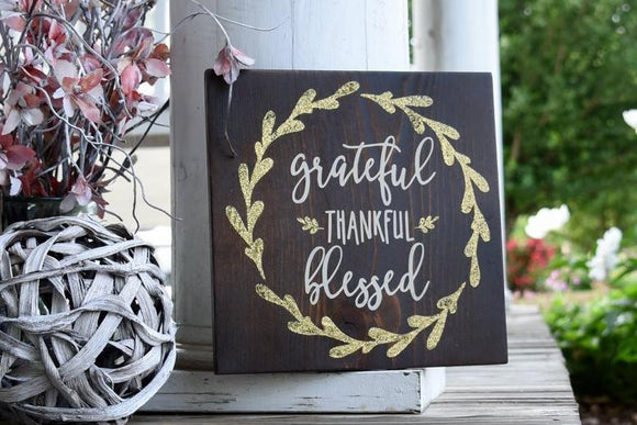 FREE SHIPPING!!!   Grateful wood sign  I  Grateful sign  I  Grateful  I  Farmhouse  I  Farmhouse decor