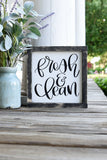 FREE SHIPPING!!!   Fresh and clean wood sign  I  Fresh and clean  I  Bathroom sign  I  Bathroom  I  Bathroom decor  I   Kid bathroom  I  bathroom