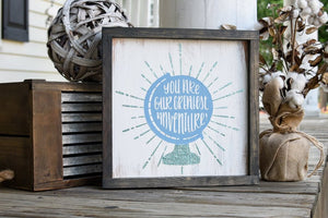 FREE U.S. SHIPPING!!!   You are our greatest adventure wood sign  I  Nursery sign