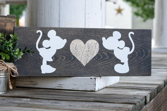 FREE SHIPPING!!!   Mouse wood sign  I  Wedding decor  I  Wedding sign  I  home and living  I  wood sign  I  wood wall art  I  wall hangings  I  home decor