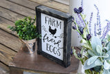 FREE U.S. SHIPPING!!!   Farm Fresh Eggs wood sign  I  Farm fresh eggs