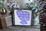 FREE U.S. SHIPPING!!!   With grace in her heart and flowers in her hair wood sign
