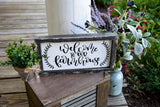 FREE U.S. SHIPPING!!!   Welcome to our farmhouse wood sign  I  Farmhouse