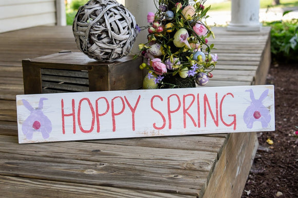 FREE SHIPPING!!!   Hoppy Spring wood sign  I  Hoppy Spring  I  Spring sign  I  Spring decor  I  Spring  I  Spring wood sign  I   Bunny sign  I  Bunny  I  signs