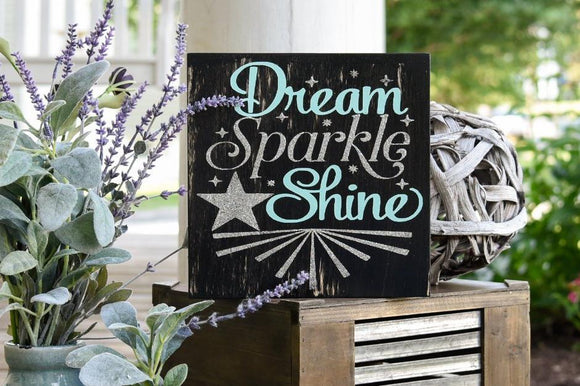 FREE SHIPPING!!!  Dream Sparkle Shine wood sign  I  Girls nursery  I  Girls room decor  I  Dream sign  I  Sparkle sign  I  wood sign  I  home and living