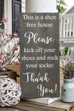 FREE U.S. SHIPPING!!!   Rock your socks wood sign  I  No shoes sign