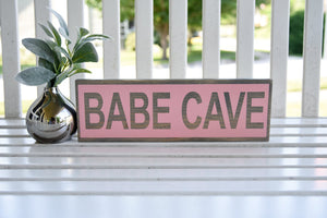 FREE SHIPPING!!!   Babe cave wood sign I   Babe cave I  girls room sign  I  playroom sign I  playroom decor I   girls decor I  girls nursery I  babe cave sign