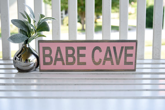 FREE U.S. SHIPPING!!!   Babe cave wood sign I   Babe cave I  girls room sign