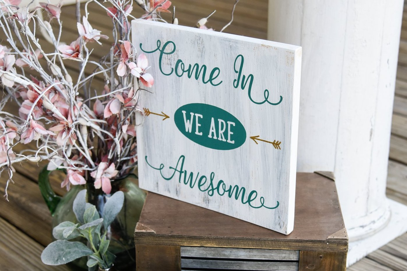 awesome sign decor free shipping    come in we are awesome wood sign i welcome sign i  are awesome wood sign i welcome