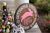 FREE U.S. SHIPPING!!!    Cottontail station wood sign  I  Easter  I  Easter sign