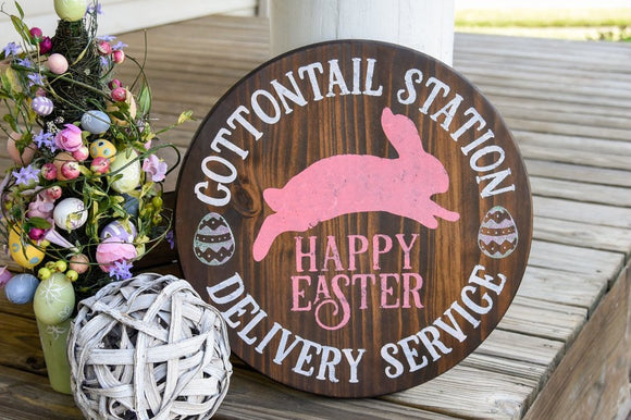 FREE SHIPPING!!!    Cottontail station wood sign  I  Easter  I  Easter sign  I  Easter decor  I  signs  I  Spring sign  I  Spring decor  I  Springtime  I  Bunny
