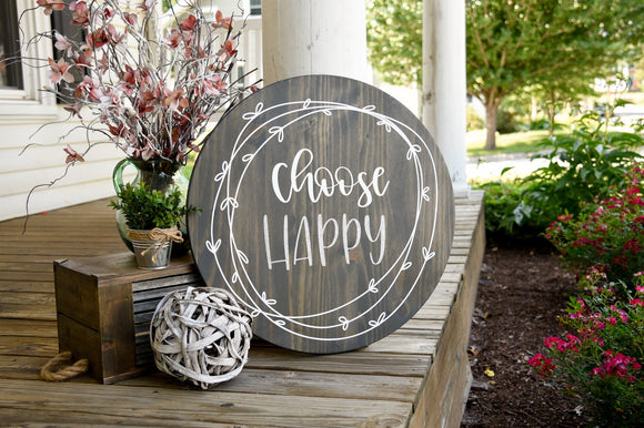 FREE SHIPPING!!!    Choose happy  I  bathroom sign  I  bathroom decor  I  motivational  I  home and living  I  home decor  I  signs