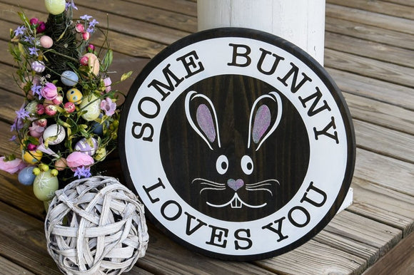 FREE SHIPPING!!!    Some bunny loves you wood sign  I  Bunny sign  I   Bunny  I  Spring sign  I  Spring decor  I  Springtime  I  Wood sign  I  home and living