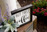 FREE SHIPPING!!!   But First Coffee Wood Sign | Wood Sign | Farmhouse Sign | Barista sign I Farmhouse Decor | Kitchen Sign | Coffee Bar Sign | Fixer Upper