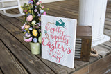 FREE U.S. SHIPPING!!!   Hippity Hoppity Easter's on its way wood sign  I  Easter