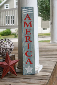 FREE SHIPPING!!!   America wood sign  I  America  I  Americana sign  I  Porch sign  I  Porch decor  I  Wood sign  I  Forth of July  I  home and living  I  sign