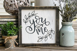 FREE U.S. SHIPPING!!!   You and me wood sign  I  Wood sign  I  wood decor