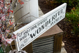FREE U.S.  SHIPPING!!!   And I think to myself what a wonderful world wood sign