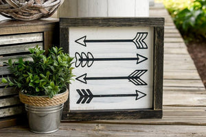 FREE U.S. SHIPPING!!!   Arrow wood sign  I  Arrow decor  I  Arrows