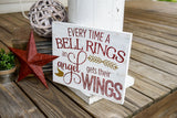 FREE U.S.  SHIPPING!!!  Everytime a bell rings and angel gets its wings wood sign