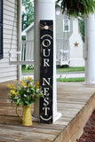 FREE SHIPPING!!!!     Our nest I  Front porch decor  I  porch sign  I  Door decor  I  Our nest sign