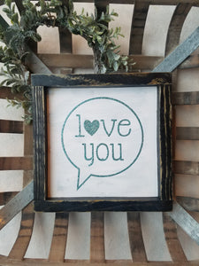 FREE SHIPPING!!!  Love you wood sign  I  Love you more  I  Wedding signs I  Wedding decor  I  signs  I  home and living  I  wall hangings  I  wood signs