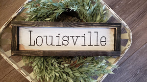 FREE SHIPPING!!!  Wood Sign  I  Louisville wood sign  I  Louisville  I  Kentucky sign  I  Mini wood sign  I  Kentucky  I  wall hanging  I  sign  I  City sign