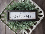 FREE U.S. SHIPPING!!!   Wood sign  I  Welcome I Door sign  I  Door decor