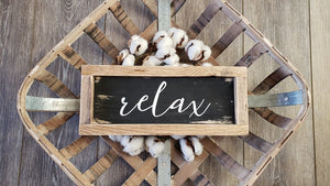 Free Shipping Wood Sign I Relax Wood Sign I Bathroom