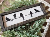 FREE U.S. SHIPPING!!!   Birds on a wire wood sign I  Bird decor  I   birds