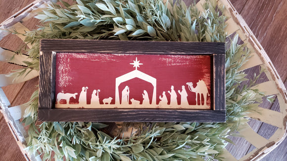 FREE SHIPPING!!!   Oh Holy Night wood sign  I  Nativity scene  I  Christmas decor  I   Nativity scene sign  I   Christmas sign  I  Christmas  I  wood signs