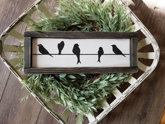 FREE SHIPPING!!!   Birds on a wire wood sign I  Bird decor  I   birds  I  bird signs  I  home decor  I   wood sign  I  home and living  I  wall hangings
